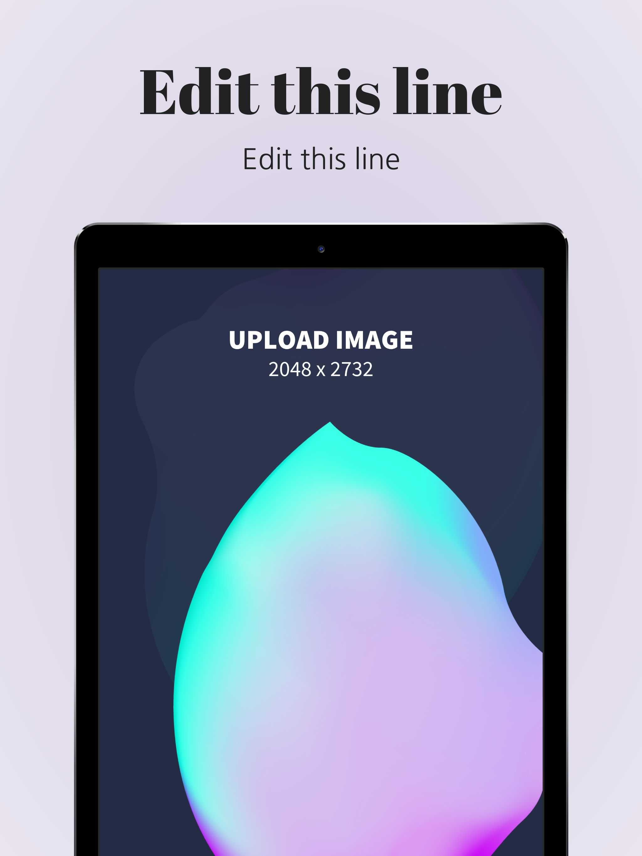 iPad Pro Screenshot 2 template. Quickly edit text, colors, images, and more for free.