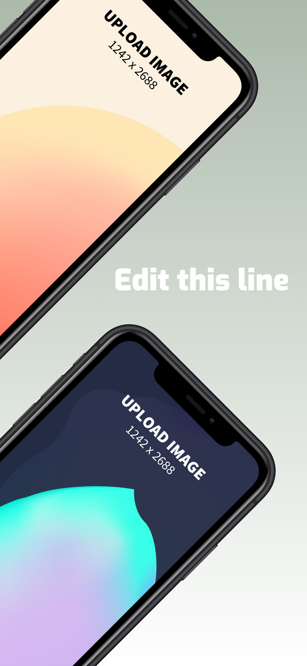 iPhone XS Max Screenshot 13 template. Quickly edit fonts, text, colors, and more for free.