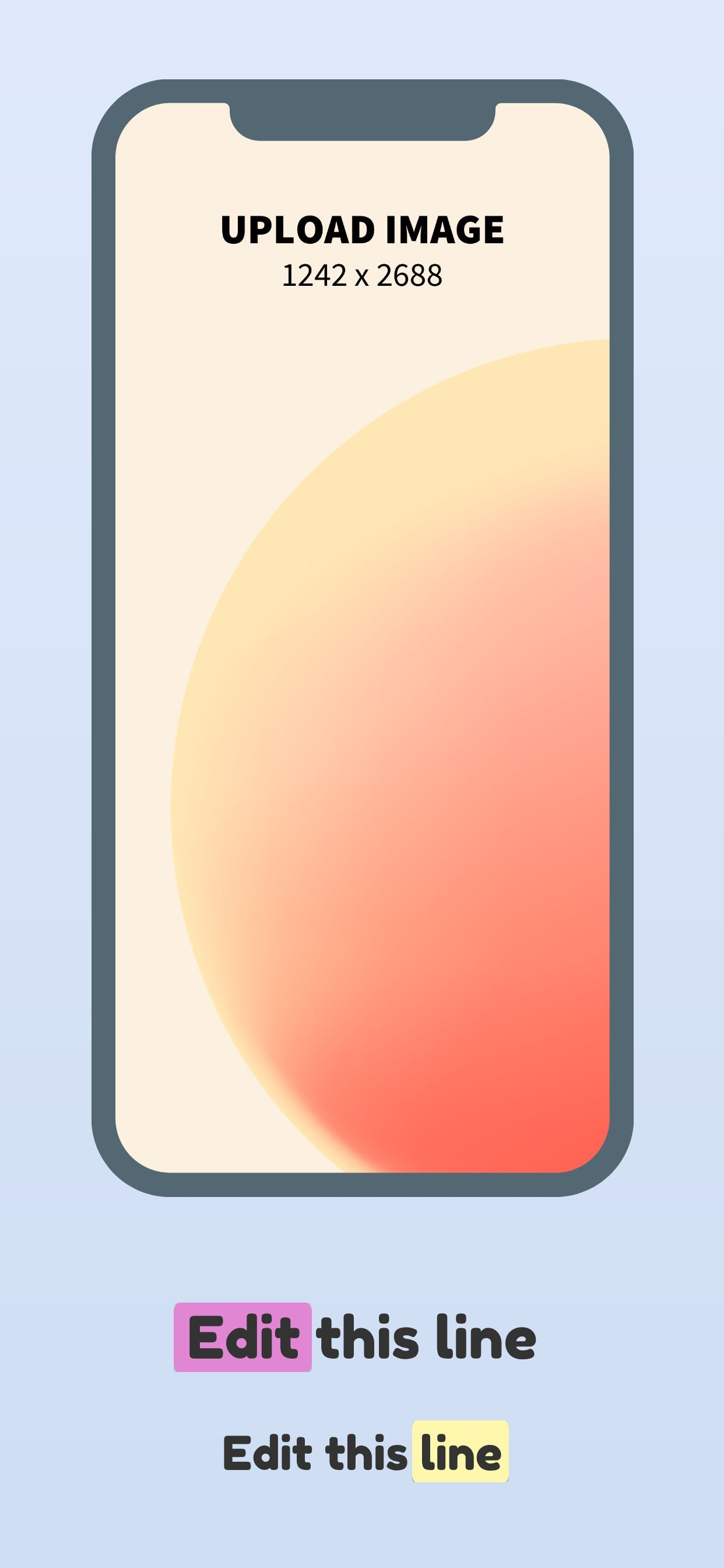 iPhone XS Max Screenshot 15 template. Quickly edit fonts, text, colors, and more for free.