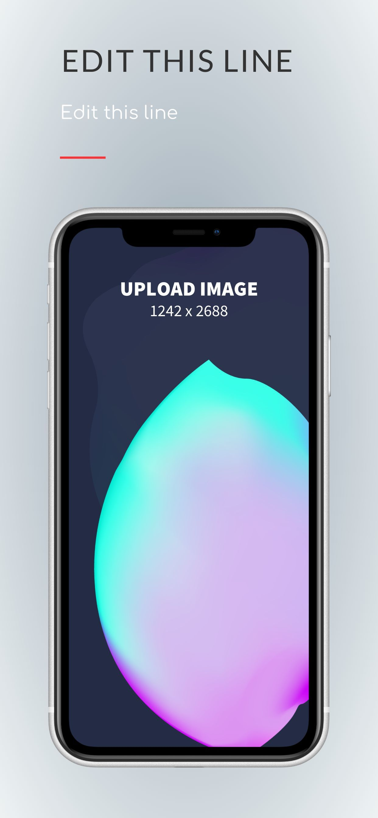 iPhone XS Max Screenshot 5 template. Quickly edit fonts, text, colors, and more for free.