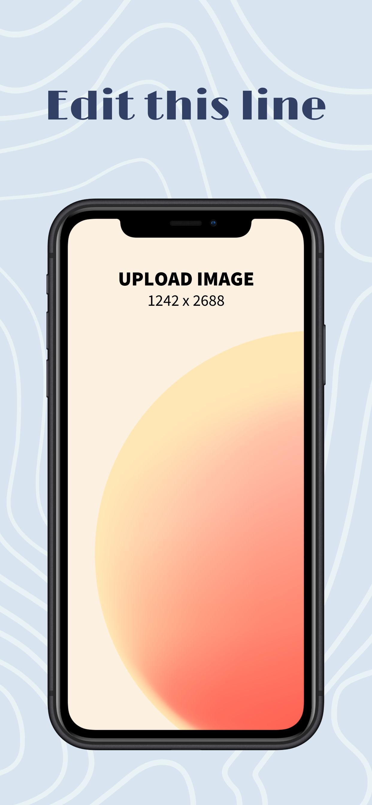 iPhone XS Max Screenshot 7 template. Quickly edit text, colors, images, and more for free.