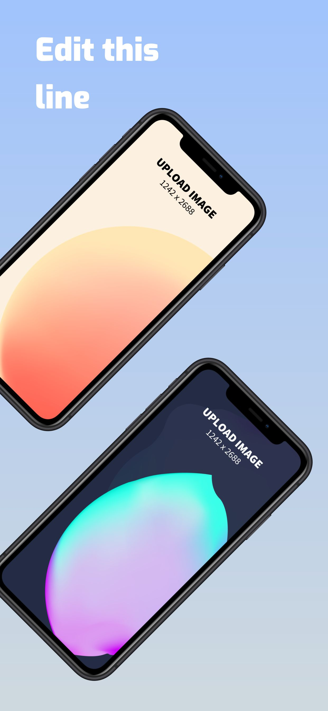 iPhone XS Max Screenshot 9 template. Quickly edit text, colors, images, and more for free.