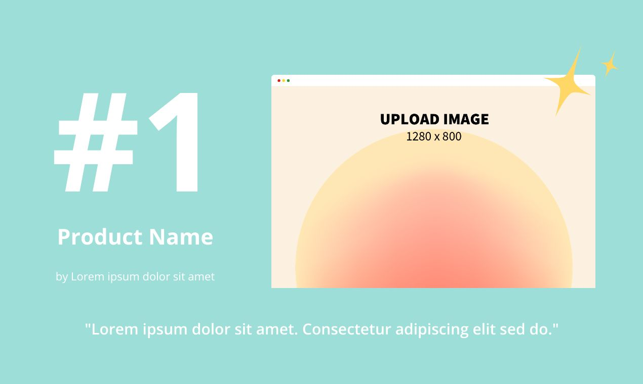 Product Hunt Gallery Screenshot 64 template. Quickly edit fonts, text, colors, and more for free.