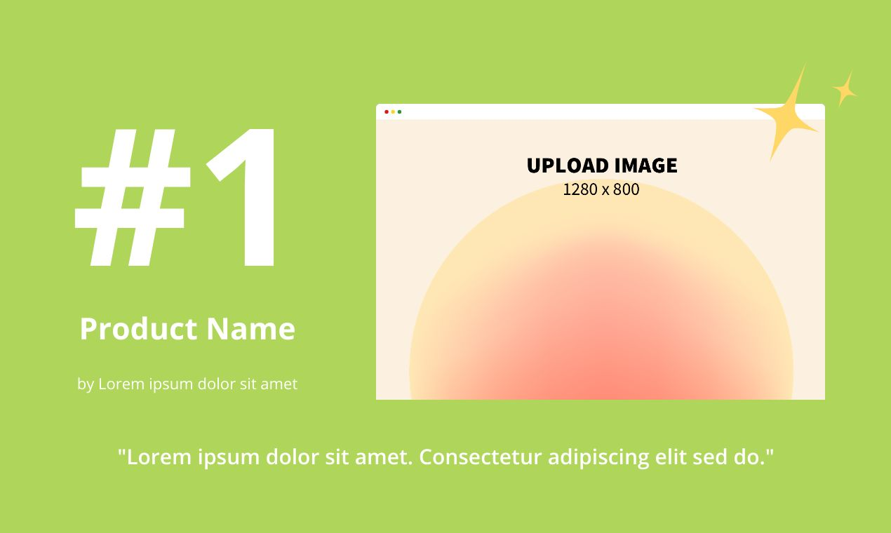 Product Hunt Gallery Screenshot 73 template. Quickly edit fonts, text, colors, and more for free.