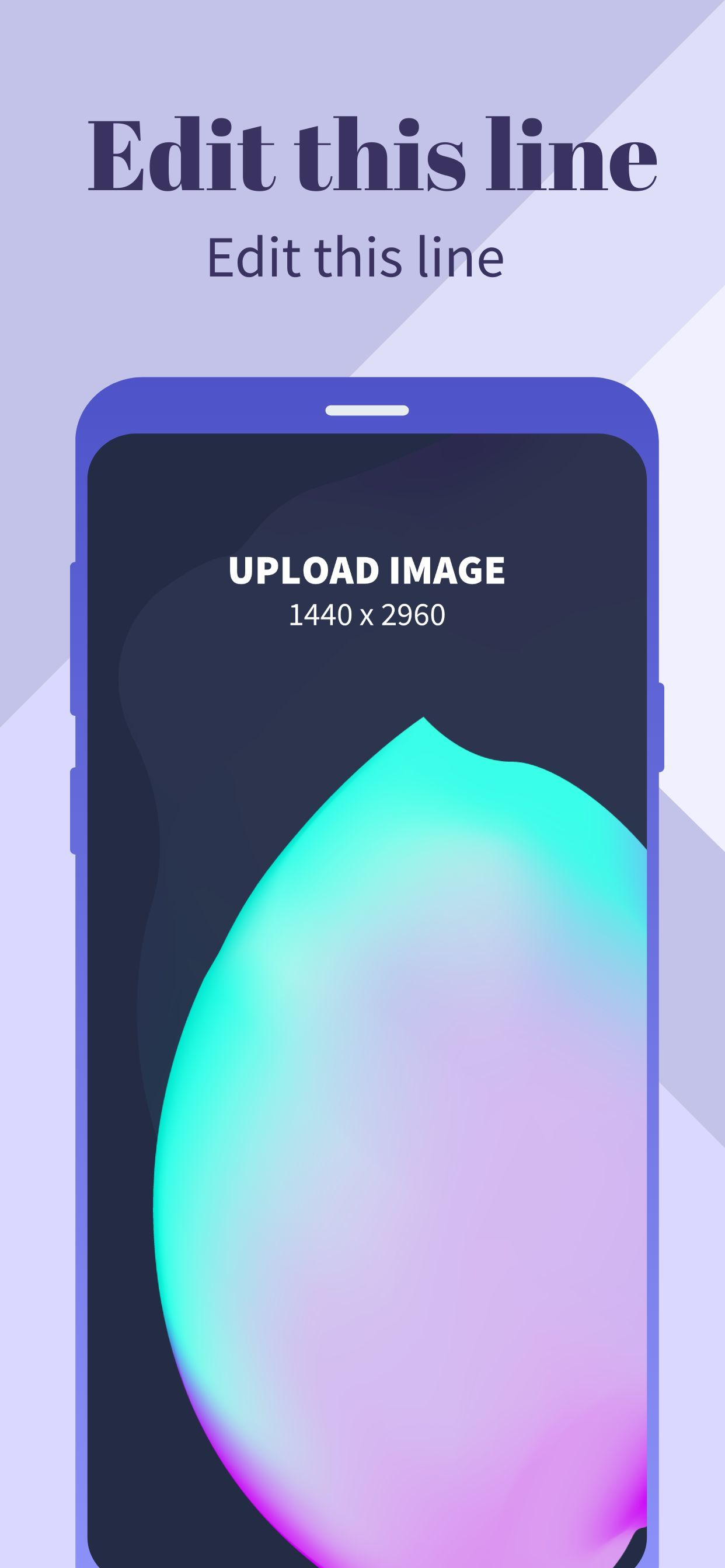 Samsung S9 Screenshot 5 template. Quickly edit text, colors, images, and more for free.