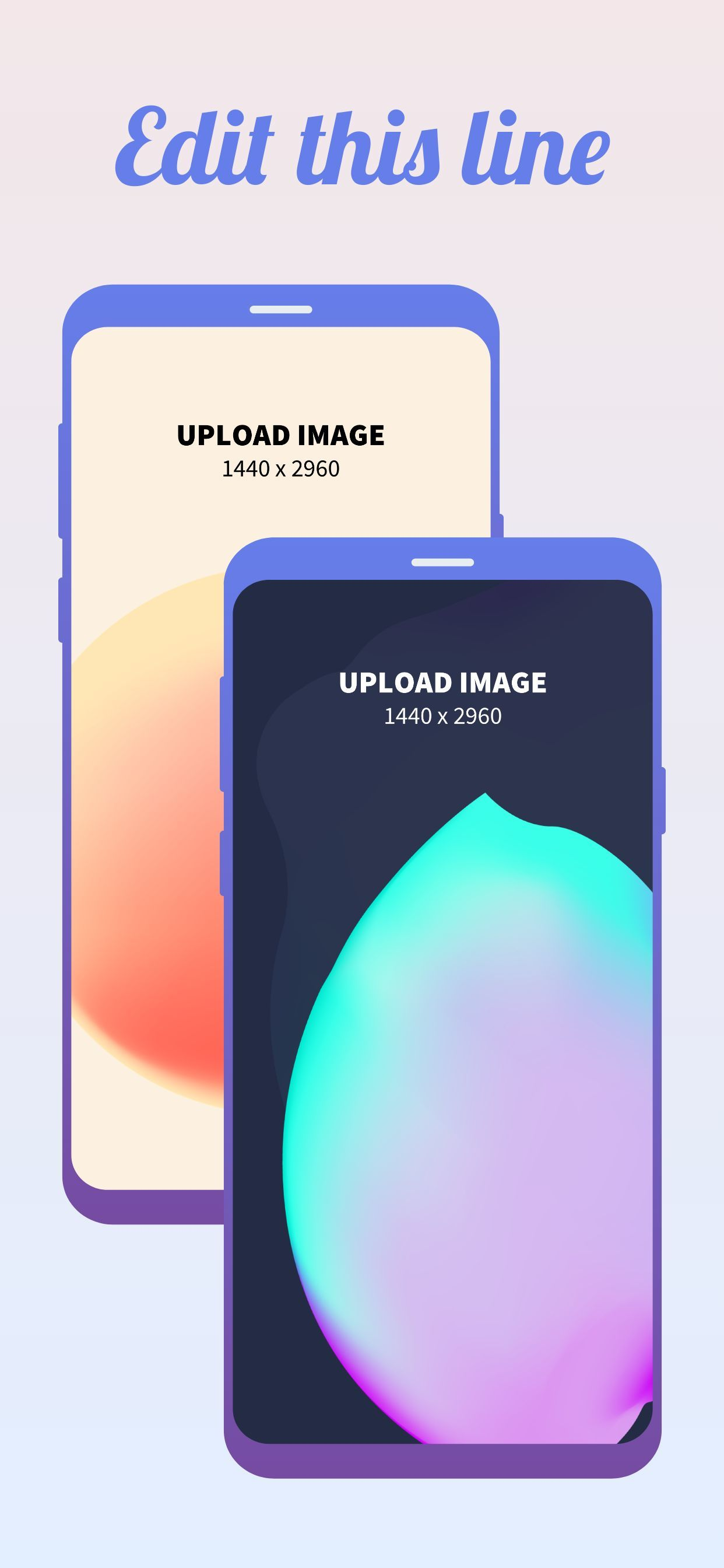 Samsung S9 Screenshot 7 template. Quickly edit fonts, text, colors, and more for free.